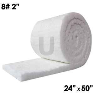 "Unitherm Ceramic Fiber Blanket, 8lb, 2"", 24"" x 50"""