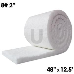 "Unitherm Ceramic Fiber Blanket, 8lb, 2"", 48"" x 12.5'"