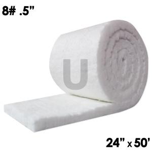 "Unitherm Ceramic Fiber Blanket, 8lb, 0.5"", 24"" x 50'"