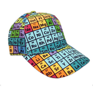 Periodic Table Hat, Rainbow Baseball Cap, Cotton