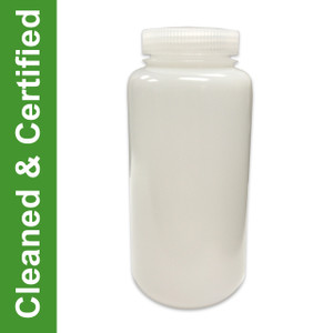 Cleaned & Certified Bottles, 1000ml HDPE Wide Mouth, case/50