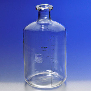 Chemglass CG-8112-13L Carboy Graduated Solution Pyrex Glass Bottles case/4