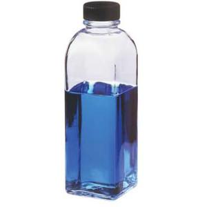 Kimble Square Ungraduated Milk Dilution Bottle, Case/48