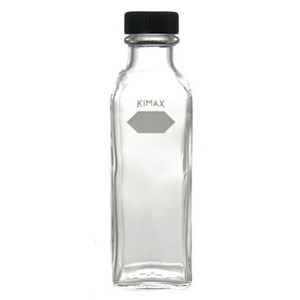 Kimble Square Ungraduated Milk Dilution Bottle