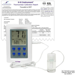 External Verification Thermometer, Zone Electronic -50/70 C