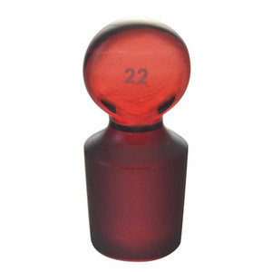 Chemglass Stopper #19 Low Actinic Red Stained Glass