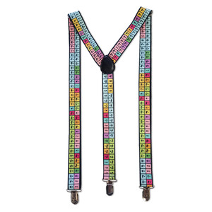 Rainbow Periodic Table Suspenders