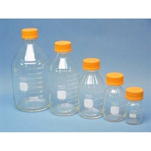 Chemglass Pyrex Media Bottle, 500mL, GL45 Cap, case/10