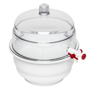 "Polycarbonate Vacuum ""Space Saver"" Desiccator"