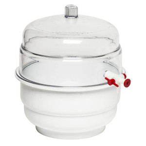 "Polycarbonate 0.31 cu. ft. Capacity Vacuum ""Space Saver"" Desiccator"