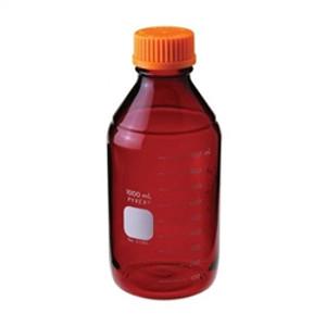 Chemglass Pyrex Media Bottle, 5,000mL, Low Actinic, GL45 Cap