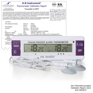 H-B Durac Calibrated Dual Zone Electronic Thermometer w/ Waterproof Sensors