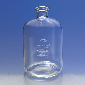 Chemglass Large Pyrex Serum Bottle, 4,000mL (1 gal) Glass Lab Carboy