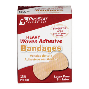 Heavy Duty Woven Adhesive Fingertip Bandages, 24 boxes of 25