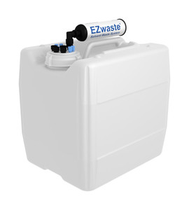 """EZwaste UN/DOT VersaCap S70 4 ports for 1/8"""" and 1/4"""" OD Tubing with 13.5L Container"""