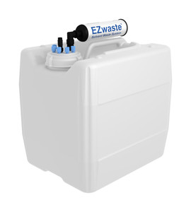 """EZwaste Filter Kit VersaCap S70 6 and 1 ports for 1/4"""" HB or 3/8"""" HB with 13.5L Container"""