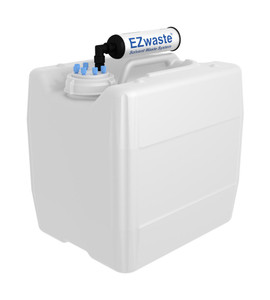 "EZwaste UN/DOT Filter Kit VersaCap S70 6 ports for 1/8"" OD Tubing with 13.5L Container"