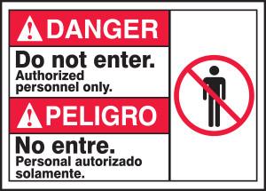 "BILINGUAL ANSI Sign - ADMITTANCE, 10 x 14"", Pack/10"