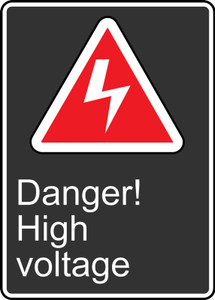 """CSA Safety Sign - Danger! High Voltage, 14 x 10"""", Pack/10"""