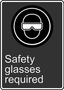 """CSA Safety Sign - CSA Safety Glasses Required, 14 x 10"""", Pack/10"""