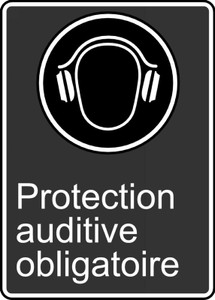"""CSA Safety Sign - Ear Protection Required, 14 x 10"""", Pack/10"""