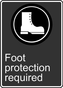 """CSA Safety Sign - Foot Protection Required, 14 x 10"""", Pack/10"""