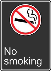 "CSA Safety Sign - No Smoking, 14 x 10"", Pack/10"