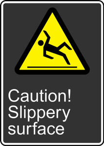 """CSA Safety Sign - Caution! Slippery Surface, 14 x 10"""", Pack/10"""