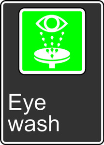 """CSA Safety Sign - Eye Wash, 14 x 10"""", Pack/10"""