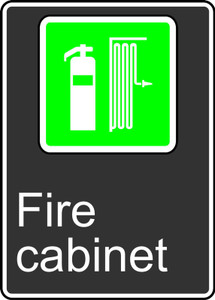 """CSA Safety Sign - Fire Cabinet, 14 x 10"""", Pack/10"""