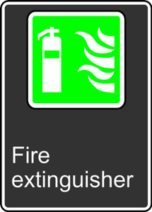 """CSA Safety Sign - Fire Extinguisher, 14 x 10"""", Pack/10"""
