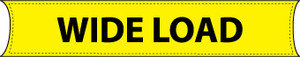 Truck Safety Banner, Wide Load Sign, 8' Vinyl-Laminated Nylon, Yellow