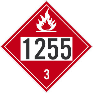 """1255 3 DOT Sign, Placard Stock, 10.75"""", pack/50"""