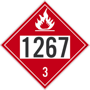 """1267 3 DOT Sign, Placard Stock, 10.75"""", pack/50"""