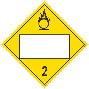 """2 Gases Blank Placard Poison Sign Adhesive Backed Vinyl, 10.75"""" X 10.75"""""""
