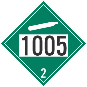 "1005 2 Dot Placard Sign Adhesive Backed Vinyl, 10.75"" X 10.75"""