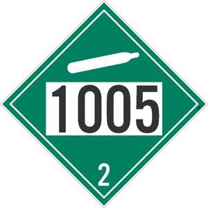 "1005 2 Dot Placard Sign Unrippable Vinyl, 10.75"" X 10.75"""