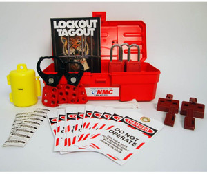 Electrical Lockout Kit, Portable, Tool Box, Padlocks, Tags, Hasp, Handbook etc.
