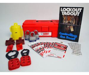 Electrical Lockout Kit, Bilingual, with Tool Box, Padlocks, Tags, Hasp, Handbook