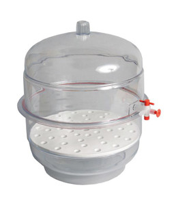 "Desiccator, Vacuum, Clear Base, 12"", Each"