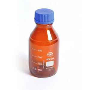 Media Storage Bottles, Amber, 500mL, case/10