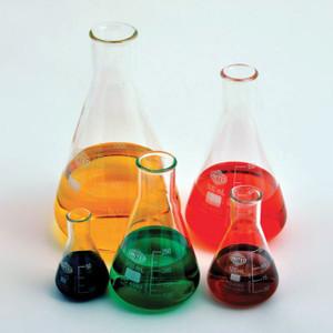 Erlenmeyer Flask, Narrow Mouth, Borosilicate Glass, 125mL, case/48