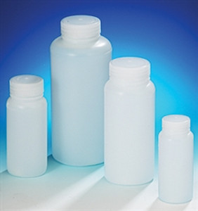 16oz Lab Bottle, Wide Mouth, HDPE, case/48