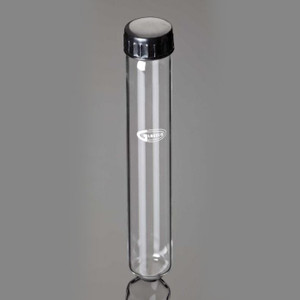 Culture Tubes with Cap, Round Bottom, 30mL, case/100