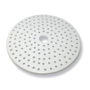 Porcelain Desiccator Plate, Small Holes, 190mm Dia., Each