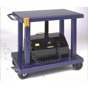 "Wesco 261103 Powered Lift Table 32"" x 48"", 2000 lb Capacity, 59"" Lift Height"