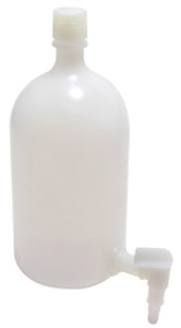 1 gallon (4L) LDPE, Carboy with Spigot, case/6