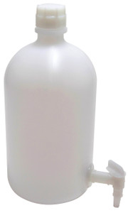 2 gallon (8L) LDPE, Carboy with Spigot, case/6
