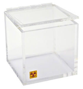 "Beta Waste Bin for Radioactive Material, 6"" L x 6"" W x 6"""