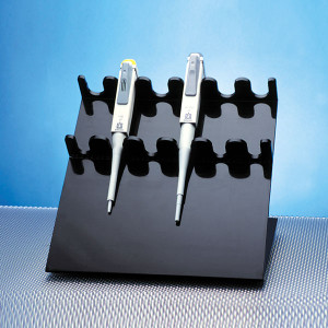Dynalon 186694 6 Place HDPE, Pipettor Holder in Black